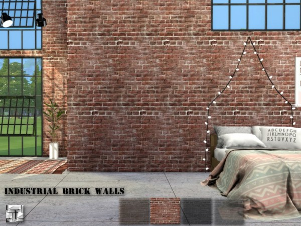The Sims Resource Industrial Brick Walls By Torque