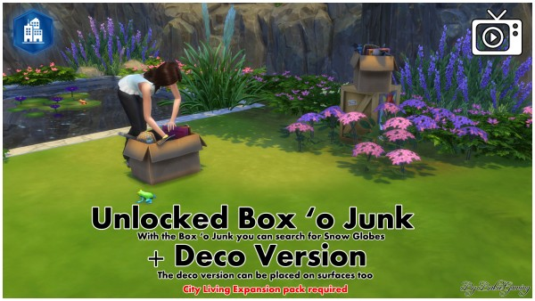 Mod The Sims: Unlocked Box o Junk and Deco by Bakie