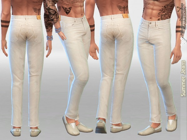 The Sims Resource: Summer Denim Jeans by Pinkzombiecupcakes
