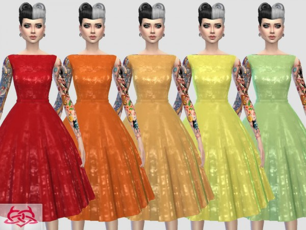 The Sims Resource: Eugenia dress recolor 1 by Colores Urbanos