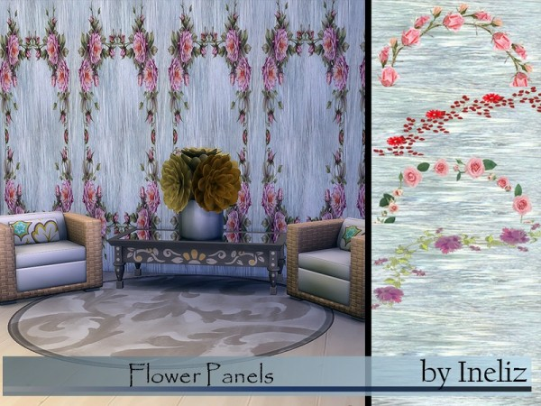The Sims Resource: Flower Panels by Ineliz