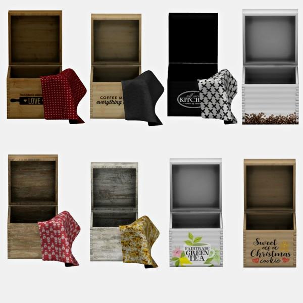 Leo 4 Sims: Kitchen box and rag