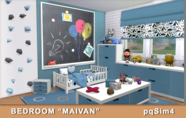 Pqsims4 maivan bedroom sims 4 downloads for Muebles sims 3