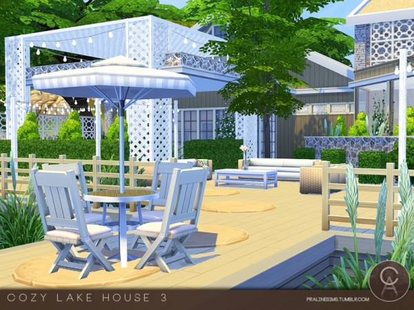 The Sims Resource: Cozy Lake House 3 by Pralinesims • Sims ...