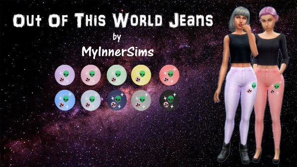 Simsworkshop: Out Of This World Jeans By MyInnerSims