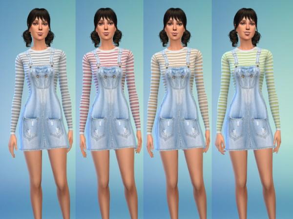 The Sims Resource: Denim Dress and Long Shirt by Jaru Sims