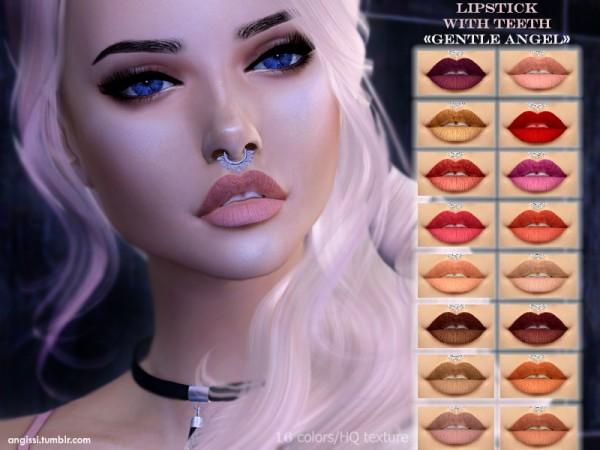The Sims Resource: Lipstick with teeth Gentle angel by