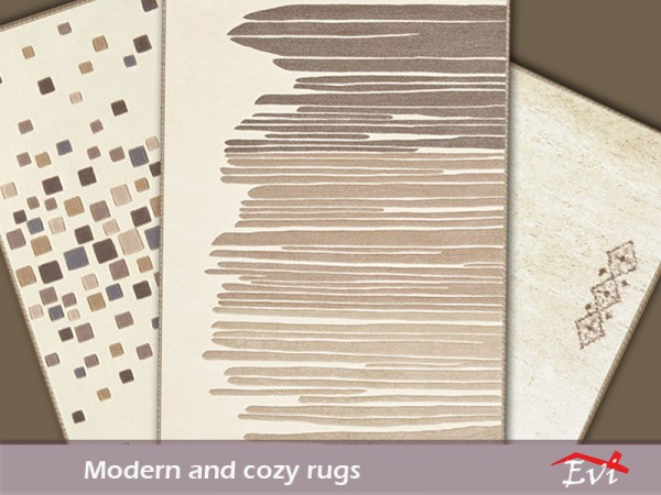 The Sims Resource Modern and Cozy rugs by evi Sims 4