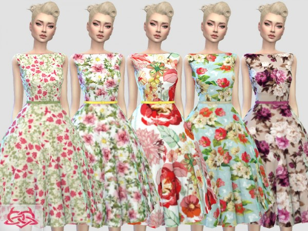 The Sims Resource: Eugenia dress recolor 2 by Colores Urbanos