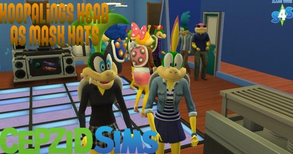Simsworkshop: Super mario head as mask hats by cepzid