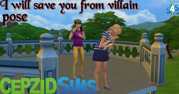 Simsworkshop: I Will Save You From Villain Poses by cepzid