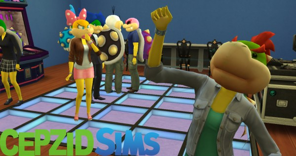 Simsworkshop Super Mario Head As Mask Hats By Cepzid