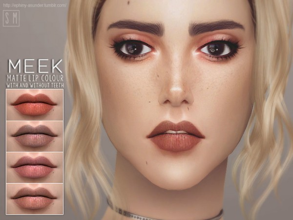 The Sims Resource: Meek    Matte Lip Colour by Screaming Mustard