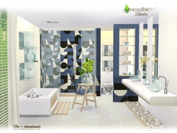 The Sims Resource: Realce bathroom by SIMcredible • Sims 4 ...