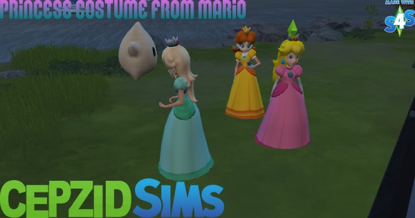 Simsworkshop: Princess Costume From Mario by cepzid