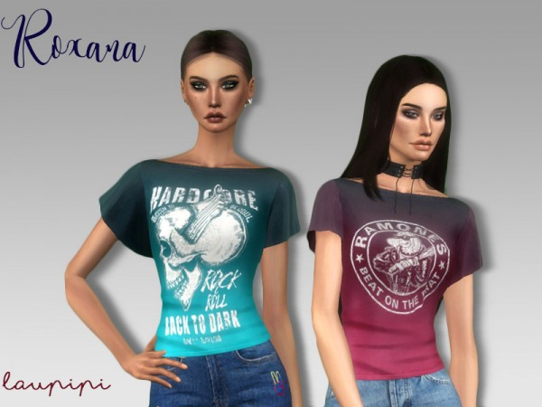 The Sims Resource: Roxana top by Laupipi