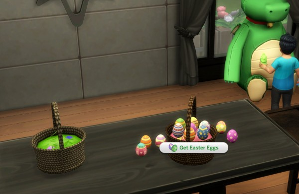 Mod The Sims: Functional Easter Basket with Edible Easter Eggs by icemunmun