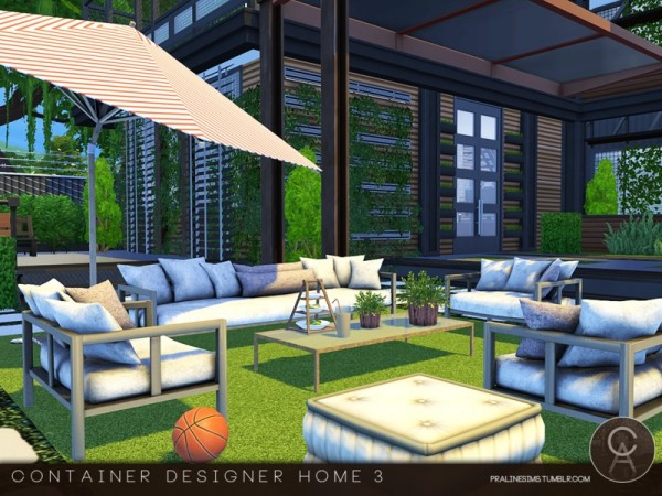 Nice ... The Sims Resource: Container Designer Home 3 By Pralinesims ...
