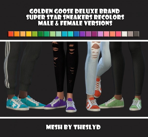 Simsworkshop: Super Star Sneakers Recolors by maimouth