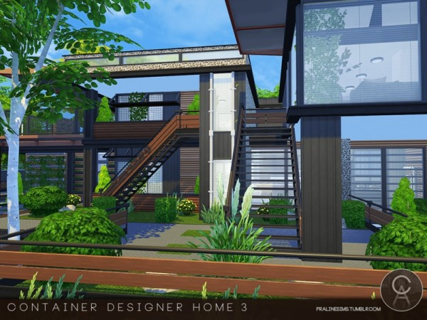 The Sims Resource: Container Designer Home 3 by Pralinesims • Sims ...