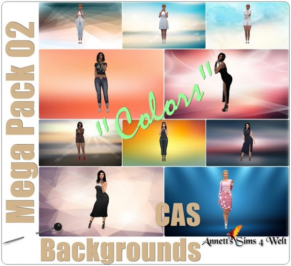 Annett`s Sims 4 Welt: Mega Pack 02   CAS Backgrounds Colors