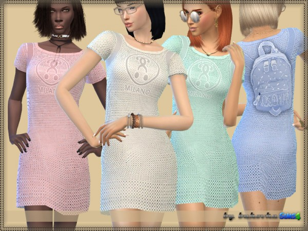 The Sims Resource: Dress and Imitation Backpack by bukovka
