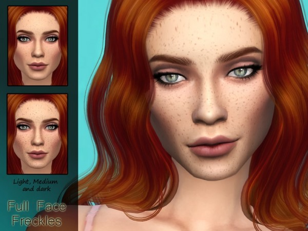 The Sims Resource: Full Face Freckles by Kitty.Meow