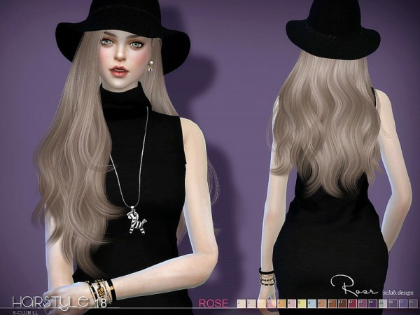 The Sims Resource: Hair Rose n18 by S Club