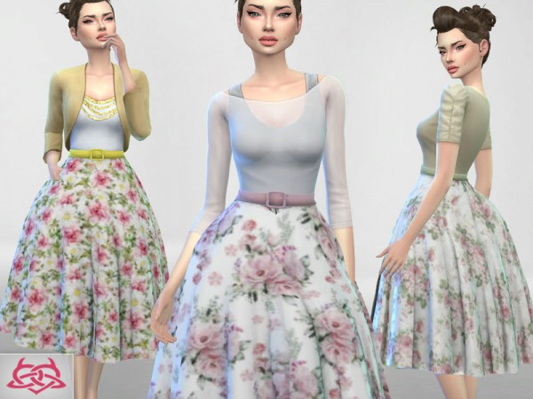 The Sims Resource: Vintage Basic skirt recolor 2 by Colores Urbanos