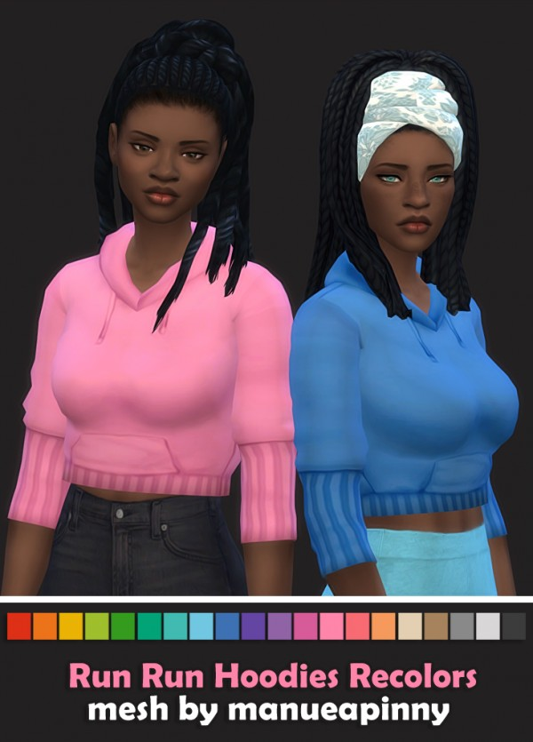 Simsworkshop: Run Hoodies Recolors V2 by maimouth