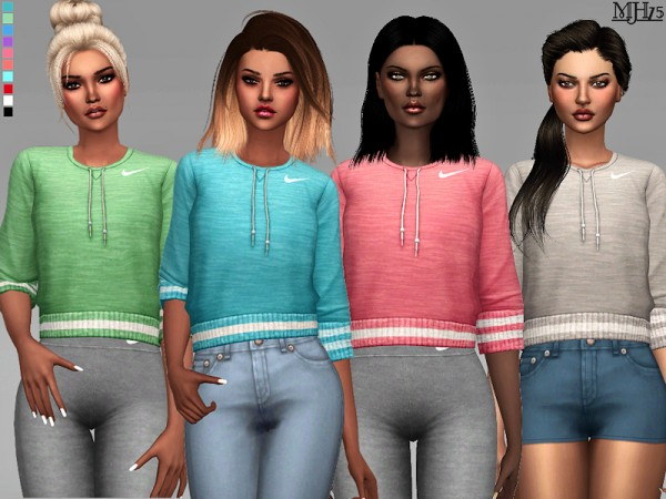 The Sims Resource: Athletic Goals Tops by Margeh 75