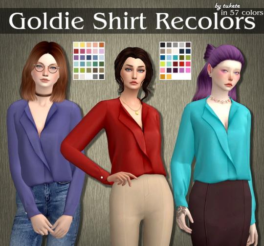 Tukete: Goldie Shirt Recolors