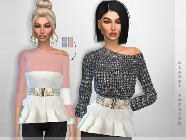 The Sims Resource: Classy Sweater by Puresim