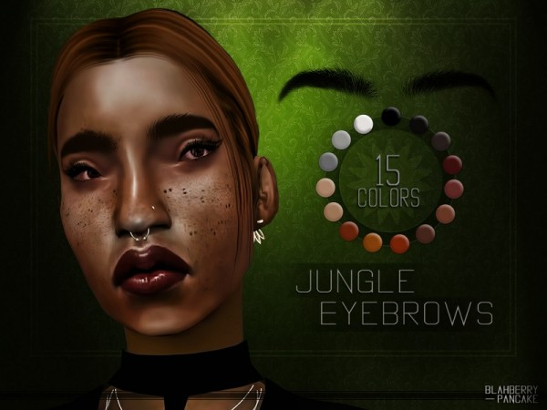 The Sims Resource: BlahberryPancake   Jungle Eyebrows
