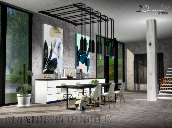 Sims 4 Designs Pslab S Industrial Ceiling Lights Sims 4