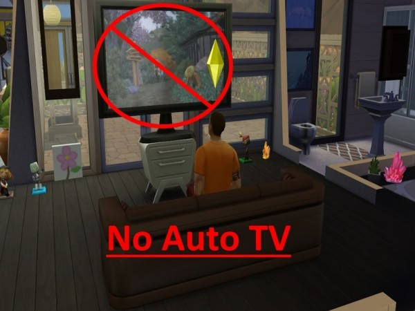 The Sims Resource: No Autonomous TV by mummy1969