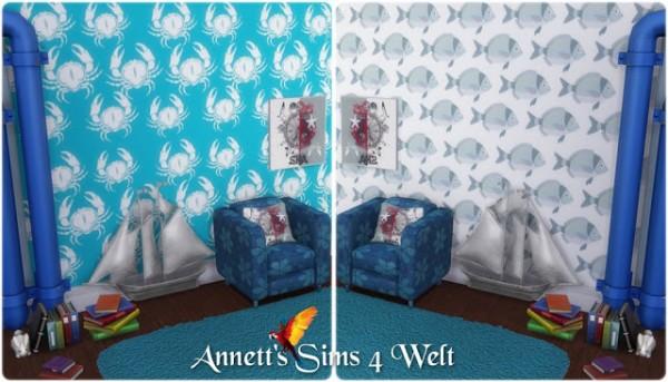 Annett`s Sims 4 Welt: Wallpapers Fish