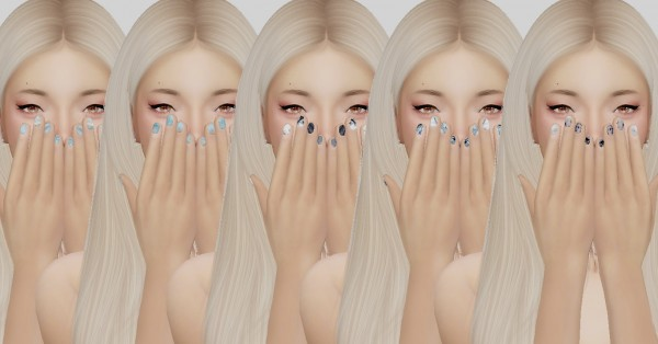 Simsworkshop: BY2OLs Nails Recolors by catsblob