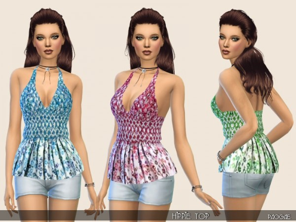 The Sims Resource: Hippie Top by Paogae