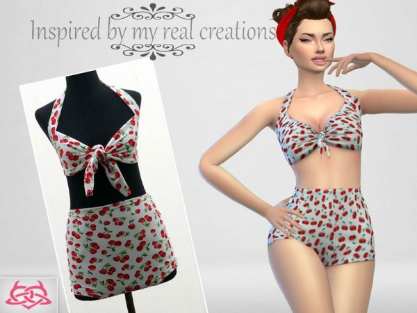 The Sims Resource: Pin up Swimwear 1 by Colores Urbanos