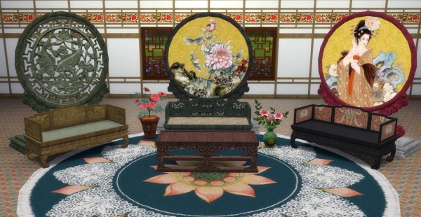 Simsworkshop: Blossoming Livingroom by BigUglyHag