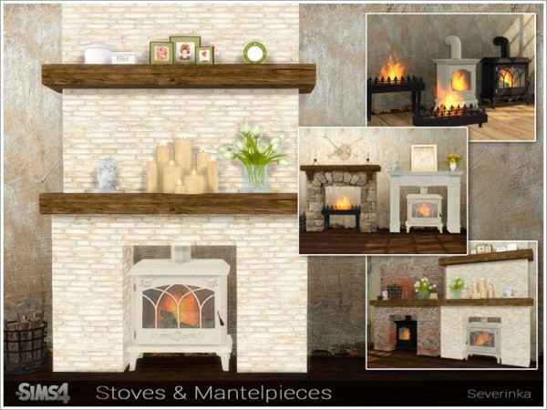 The Sims Resource: Stoves and Mantelpieces by Severinka