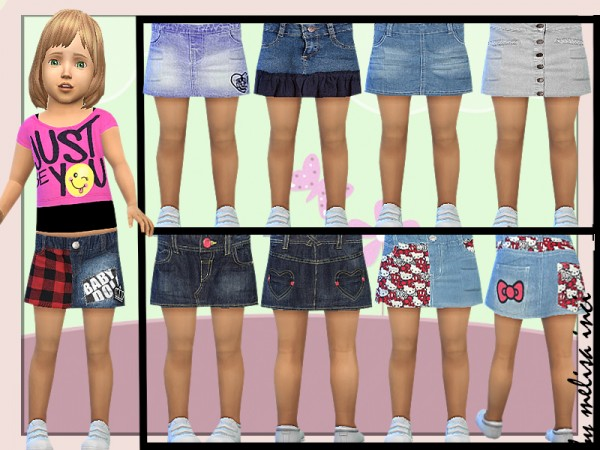 The Sims Resource: Toddler Denim Skirt by melisa inci