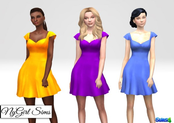 NY Girl Sims: Ruffle Sleeve Spring Dress