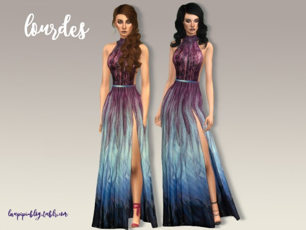 The Sims Resource: Lourdes gown by April