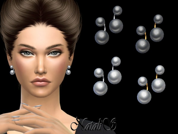 The Sims Resource: NataliS Double pearl earrings