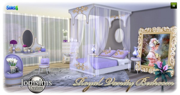 Jom Sims Creations Royal Vanity Bedroom Sims 4 Downloads