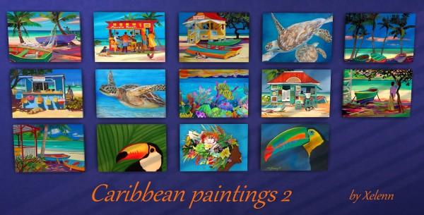 The Sims 4 Xelenn: Caribbean art