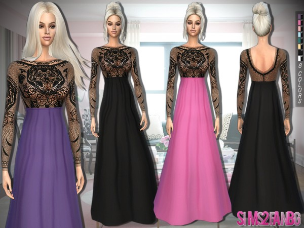 The Sims Resource: 328   Evening Gown by sims2fanbg