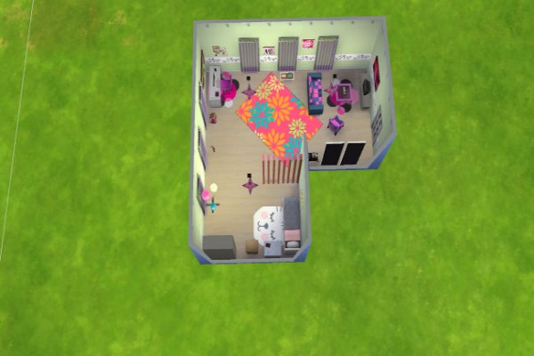 Blackys Sims 4 Zoo: Youth room spring by LillyAngel1209